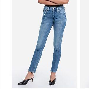 Express Cozy Fleece Mid Rise Legging Jean